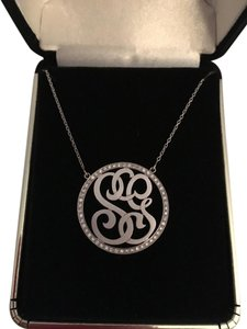 Kacey K Personalized White Gold and Diamond Necklace with Initials