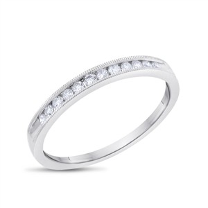 Other 0.25 CT Natural Diamond Filigree Wedding Band in Solid 14k White Gold