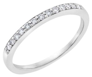 Other 0.15 CT Natural Diamond 2mm Wedding Band in Solid 14k White Gold