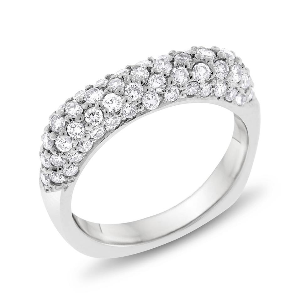ring bands on icing band pave set wedding the pav