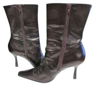 Gianni Bini Leather Cognac Brown Boots