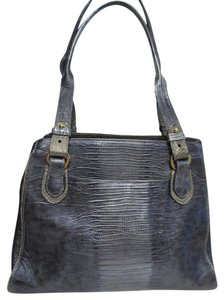 Brahmin Leather Satchel in Gray