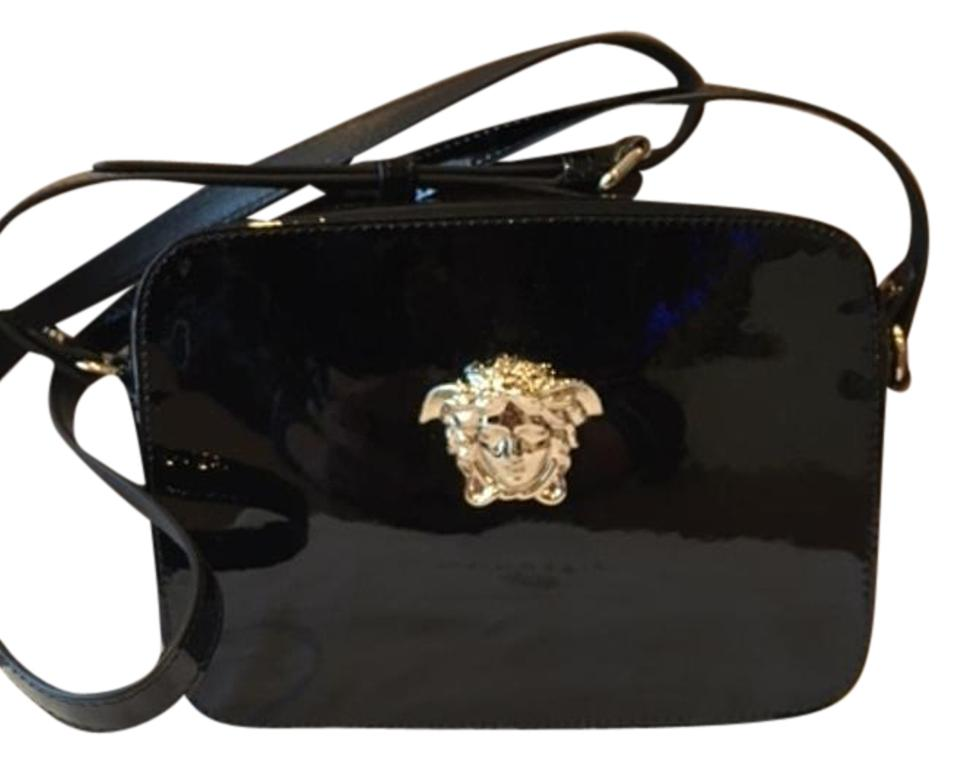 f9fb6a5232 Versace Medusa Palazzo Black Patent Leather Cross Body Bag - Tradesy