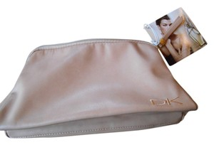 Donna Karan Cosmetic Travel Cosmetic Zip Closure Tan Travel Bag