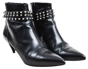 Saint Laurent Silver Black Boots