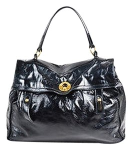 Saint Laurent Yves Rive Gauche Crinkled Patent Ghw Muse Two Shoulder Bag