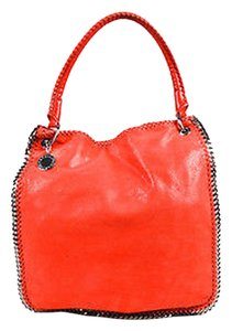 Stella McCartney Faux Suede Leather Woven Chain Trim Falabella Hobo Bag