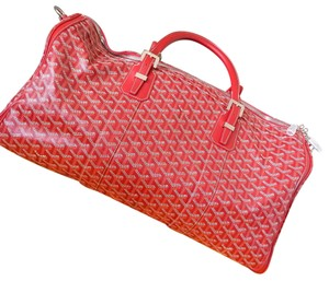 Goyard Red Travel Bag
