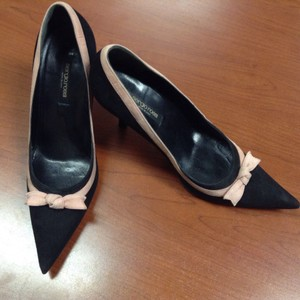 Sergio Rossi Suede Mod 50's Rockabilly Black/Pink Pumps