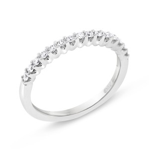 Other 0.22 CT Natural Diamond Gallery Wedding Band in Solid 14k White Gold