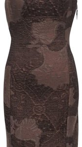 NWT MSRP $798 Worth New York Copper Burnout Dress Dress