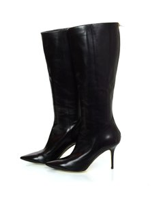 Jimmy Choo Leather Tall Black Boots