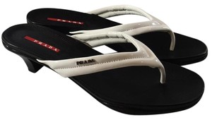 Prada white/black Sandals