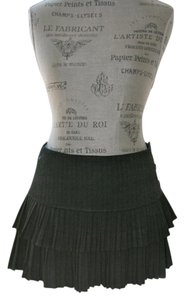 Forever 21 Pleated Tiered Mini Skirt Grey