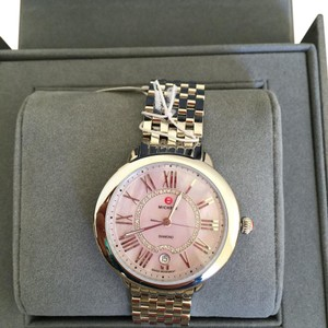 Michele $1095 NWT 'Serein 16' MOP Dial Diamond MW21B00A0062