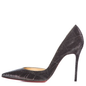 Christian Louboutin Dark Grey Metallic Pumps