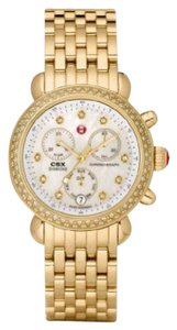 Michele $2600 NWT GOLD Siganture CSX 36 MOP Diamond watch MWW03M000141