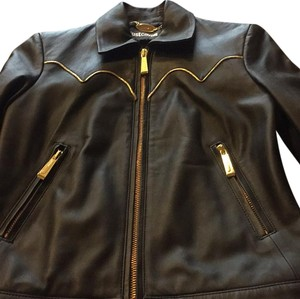 Just Cavalli black Leather Jacket