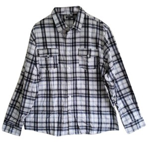 Imperious Delf Trading Inc Button Down Shirt BLUE/BLACK