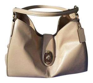 Coach Smooth Supple Leather Goldhardware Satchel in TAN