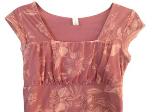 Merona Flowers Dressy Casual Date Top Rose, Blush