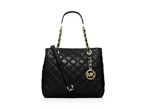 Michael Kors New Leather Quilted Black Cross Body Bag