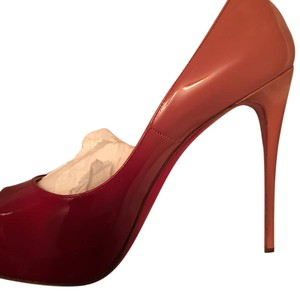 Christian Louboutin 2 toned pink and red Platforms