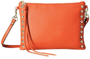 Rebecca Minkoff Jon Poppy Red Leather Studded Cross Body Bag
