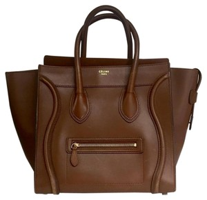 Céline Luggage Luggage Tote in Whisky Brown