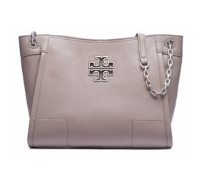 Tory Burch Leather Tote in French Gray