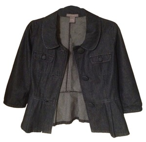 Ann Taylor Dark Blue Denim Womens Jean Jacket