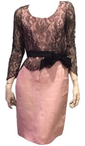 Bill Blass Cocktail Pink Lace Dress