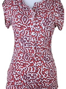 Diane von Furstenberg Top red cream