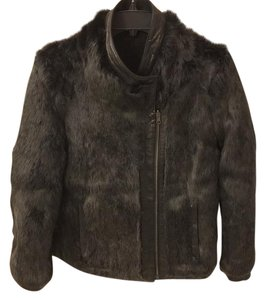 Helmut Lang Fur Leather Fur Coat