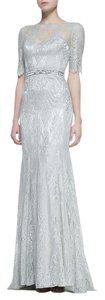 Theia Lace Beaded Dress