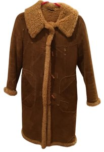 CHRISTIAN (LAST NAME ?-SCANDINAVIAN) Shearling Suede Patchwork Style Perhaps Vintag-y Danish Designer Fur Coat