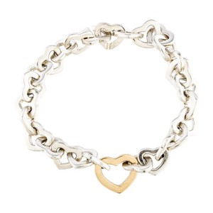 Tiffany & Co. Two Tone Interlocking Heart Bracelet