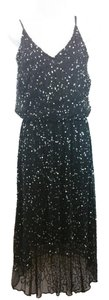 Pisarro Nights Embellished Black Cocktail Dress