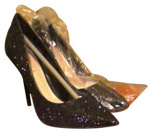Guess Prom Wedding Stilletto Unique Sequin Black Pumps