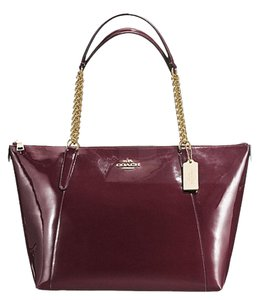 Coach Ava F57308 Tote in Oxblood