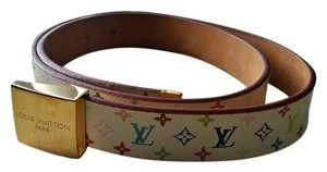 Louis Vuitton Louis Vuitton Multicolor Monogram belt for sale