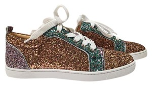 Christian Louboutin Louboutin Sneakers Gondoliere Orlato Louboutin Glitter Low Top Snekaers Orlato Sneakers Green Purple Gold Athletic