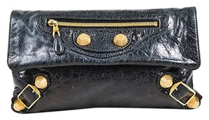 Balenciaga Distressed Black Clutch