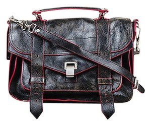 Proenza Schouler Proenza Pink Leather Distressed Ps1 Messenger Cross Body Bag