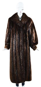 Other Vintage Garber Furs Chocolate Long Sleeve Pointed Long Coat