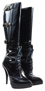 Gucci Shiny Leather Black Boots