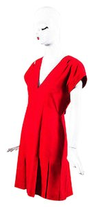 Chanel Vintage Boutique Dupioni Silk Deep V Cap Sleeve Dress