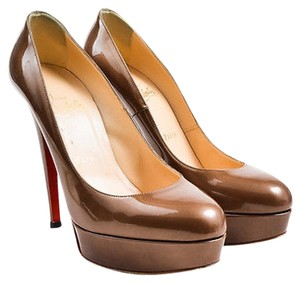 Christian Louboutin Taupe Brown Pumps