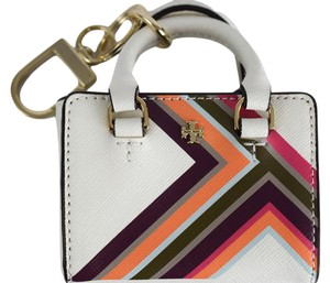 Tory Burch Tory Burch Robinson Multi-Stripe Mini Tote Bag Charm