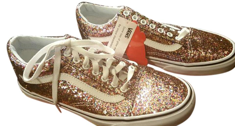 7ce9f36872 Vans Glitter Pink Old Skool (Chunky W  Off The Wall Sole) Sneakers ...
